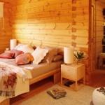 Quarto da casa de madeira. (Foto:Divulgação)