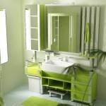 Banheiros decorados em verde (Foto:Divulgação)
