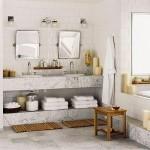 Decoração em mármore e vidro para banheiro (Foto:Divulgação)