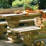 Móveis de madeira para jardim