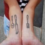 Tatuagem dos talheres (Foto:Divulgação)