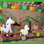 Os personagens da fazenda são os animais.