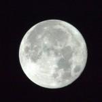 Foto da Lua, tirada pela da estação espacial (Foto:Divulgação)