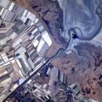 Vista de uma paisagem e plantações vistas do espaço (Foto:Divulgação)