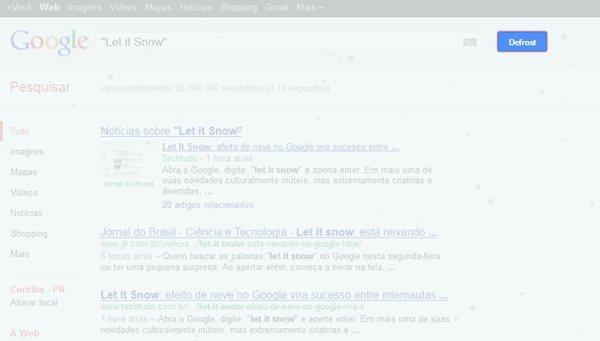 Deixe que a neve caia na tela do seu navegador
