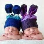 Bebês dormindo com touquinha. Lindos! (Foto:Divulgação)