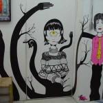 Trabalho profissional de pintura em parede