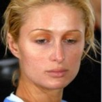 A socialite Paris Hilton sem maquiagem (Foto:Divulgação)