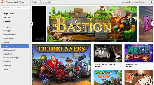 Jogos gratuitos para o Google Chrome