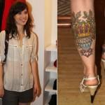Tatuagem na perna da Mel Lisboa (Foto:Divulgação)