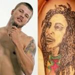 Rodrigo Hilbert e sua tatuagem do Bob Marley (Foto:Divulgação)
