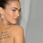 Megan Fox Tatuou uma citação pertencente à obra Rei Lear, de Shakespeare (Foto:Divulgação)