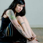 A cantora Pitty também possui muitas tatuagens pelo corpo (Foto:Divulgação)