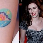 Tatuagem de pôr-do-sol de Scarlet (Foto:Divulgação)