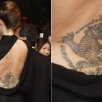 Tatuagem de dragão de Angelina Jolie (Foto:Divulgação)