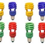Lâmpadas fluorescentes coloridas