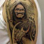 Tatuagem do ceifador; Morte (Foto:Divulgação)
