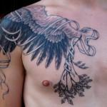 Tatuagem de penas (Foto:Divulgação)