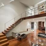 Seguindo a linha Bauhaus de decoração, móveis curvelineos, mas de design minimalista
