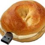 Pen drive de pão(Foto:Divulgação)