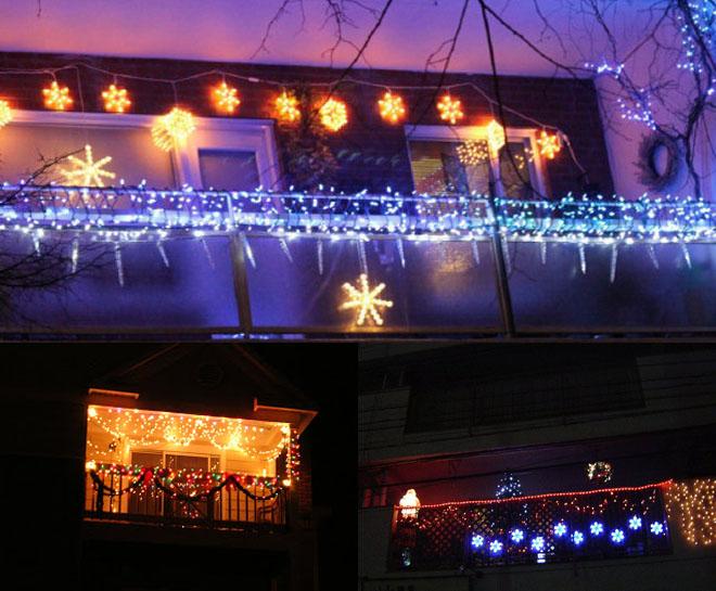 Casa decorada com luzes de natal