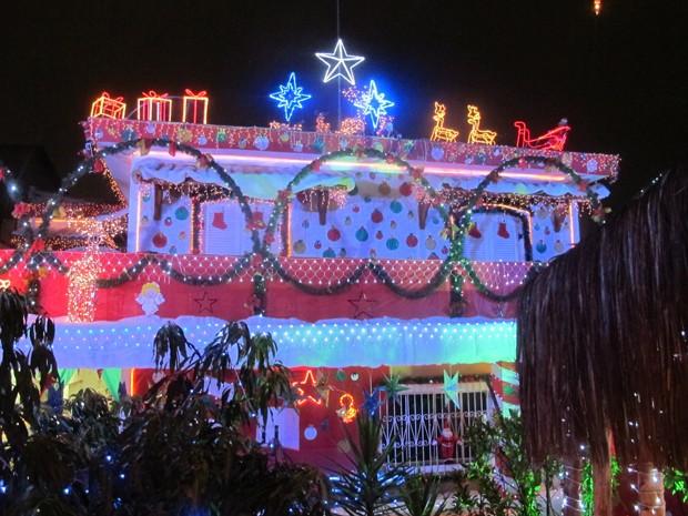Decoração de Natal colorida