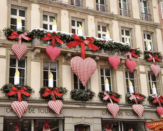 Decoração de Natal com corações (Foto: Divulgação)
