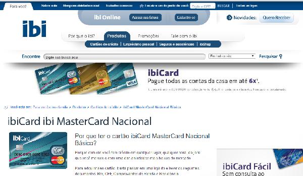 No site do IBI você tira 2ª via do boleto C&A (Foto: Divulgação IBI)
