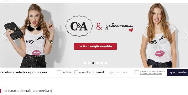 C&A oferece facilidades nas compras com o cartão (Foto: Divulgação C&A)