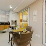 Um espaço perfeito para fazer refeições com a família ou receber os amigos.