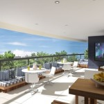 Em função do lazer, a varanda gourmet pode contar com televisão.