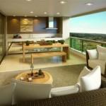 Uma área sofisticada e agradável para a residência.