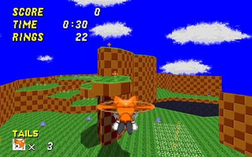 O mundo de Sonic agora em 3D