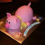 Bolo com formato de porquinho (Foto:Divulgação)