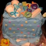 Bolo bolsa de bebê(Foto:Divulgação)
