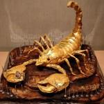 Bolo com formato de escorpião (Foto:Divulgação)
