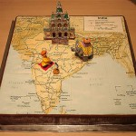 Bolo com forma de mapa (Foto:Divulgação)