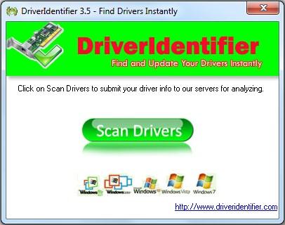 """Clique em """"Scan Drivers"""" para procurar pelos drivers"""
