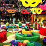 Clima de descontração na festa carnavalesca (Foto: Globo.com)