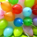 Balões coloridos deixam a comemoração mais alegre