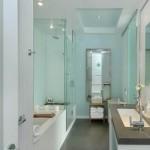 O box é a solução mais usada para dividir áreas do banheiro.