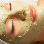 Máscara de argila verde para a pele