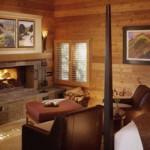 Sala de estar da casa de campo