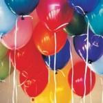 Balões coloridos deixam a festa mais bonita.