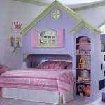 Quarto decorado com o tema Casa de Boneca