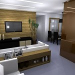 A madeira é um material que pode aparecer sempre que possível na sala.