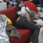 Vítimas do acidente do Costa Concórdia no hospital, aguardando atendimento médico