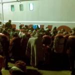 Sobreviventes do naufrágio após o resgate
