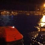 Botes utilizados para o resgate dos passageiros