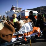 Vítima ferida recebendo os primeiros socorros